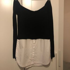 Black and White Mendocino Shirt NWT